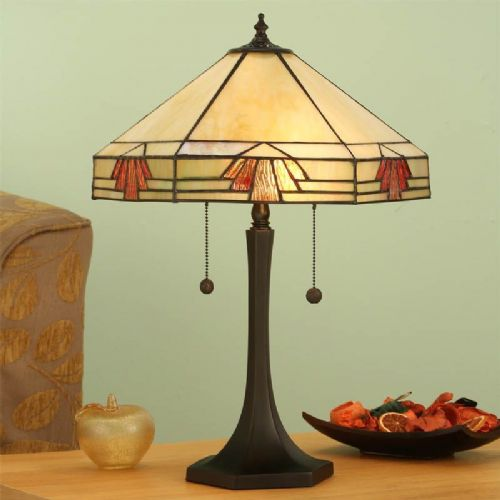 Nevada Large Table Lamp (Art Deco, Large Table lamp) TM16 light (Tiffany style)